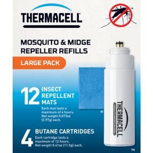 Thermacell Groß Mücke /& Mücke Repeller Nachfüllpaket 12 Matten 4 Gas