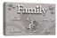 Le Reve Family Quote Wall Art Picture Powder Grey White Love Home Canvas Panel