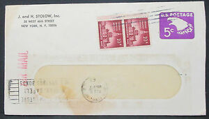 US-Airmail-Postal-Stationery-Envelope-10c-Dual-Stamp-GS-USA-Lupo-Letter-H-10882