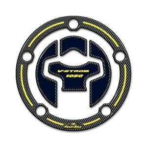 Sticker 3D Fuel Cap Compatible With Suzuki V-STROM 1050 2020 Yellow