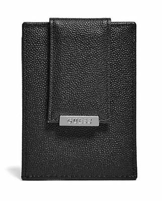 New Men/'s Guess Los Angeles Black Leather Hobart Card Case Fast Free Ship No Tax
