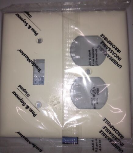 Pass /& Seymour Trademaster TP18-I 2 Gang 1 Toggle /& Receptacle Ivory Wall Plate