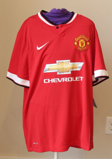 3ccf9a86752 Nike Dri-Fit MANCHESTER UNITED Authentic Jersey Mens Large Red HOME  Chevrolet