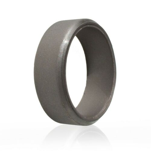 Silicone Ring Wedding Band Engagement Ring FlexFit Hypoallergenic Mens Womens