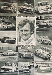 SIGNED-JOHN-FITZPATRICK-RACING-GT-CHAMPION-1972-1974-POSTER-PORSCHE-RS-FORD-BMW