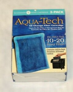 AquaTech EZ-Change 3-Pack Aquarium Filter Cartridge for 10 to 20 Power Filter