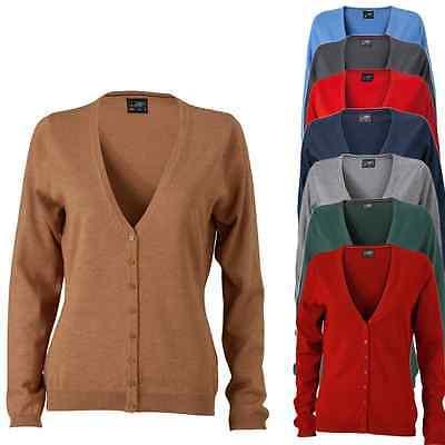 James & Nicholson Damen Cardigan Sweatshirt Jacke Hoodie Pullover Pulli S - Xxl