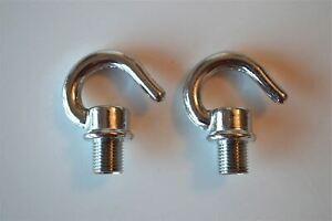 5 BRASS BULB HOLDER LAMPHOLDER SCREW IN 10MM HOOK CHAIN LIGHT HOOK CEILING G1