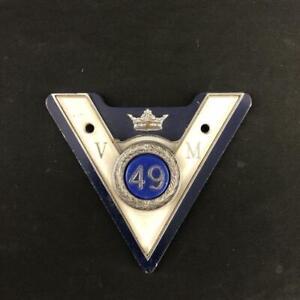 VETERAN MOTORISTS ASSOCIATION 49 YEAR CAR CLUB BADGE EMBLEM