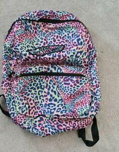 VANS Girls Backpack Pink multi coloured Leopard Print