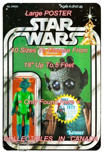 "STAR WARS 1978 Greedo RODIAN = POSTER Action Figure 10 SIZES 18/"" 5 Feet"