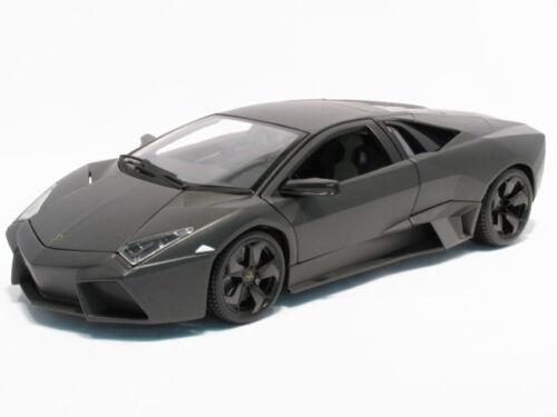 Lamborghini Reventon + Vitrine, schwarz, Bburago Street Tuners Modell 1:32, Neu