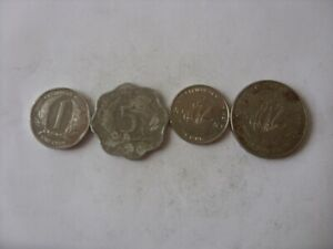 LOT OF 4 EAST CARIBBEAN STATES COINS 1- 25 CENTS  1981-2008