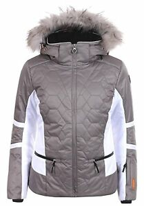 Details zu Icepeak Carol Kunstpelzkragen Skijacke Damen khaki *UVP 159,99