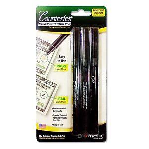 DriMark 3 Packs Dri Mark Counterfeit Bill Dollar Detector Pen Holder /& Coil