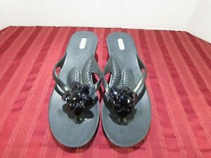 e0c082ffb726bc Oka b Thong Sandals Flower Flip Flops Wedge Women Size Large