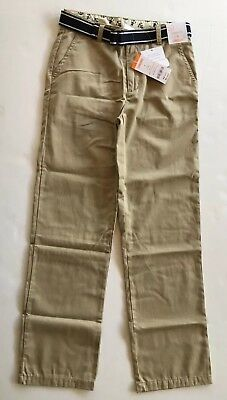 No Tax NWT Chaps Boys/' Khaki Flat Front Twill Pant with Stretch size 6