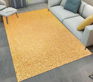 Plain color gold pattern area rugs kids bedroom carpet - Gold rugs for living room ...