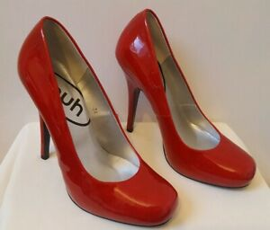 cde7ad65f0f Details about Schuh Lois Point Patent Court Shoes UK 5 EU 38 Red Killer  High Heels. Immaculate