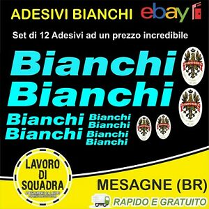 KIT-12-ADESIVI-PRESPAZIATI-BICI-BIANCHI-Bike-Bicicletta-logo-a-colori-Edoardo