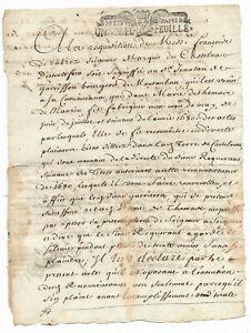 1710 KING LOUIS XIV Marquis signed JUSTICE application manuscript document