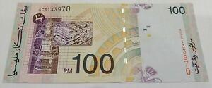 Malaysia RM100 8th series Don AC5133970 GEF
