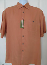 CAMPIA MODA Men's Hawaiian / Camp Shirt Coral Color Size Medium NWT