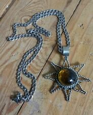 Unusual Sun Pendant Necklace - Weird Goth Gothic Pagan Wicca Witch Jewellery