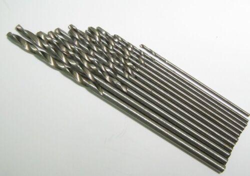 12 brocas de acero muy util para Modelismo Antigüedades Taladro Manual 12