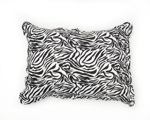 Cotton Ruffled Zebra Sham Set by Quiltbay