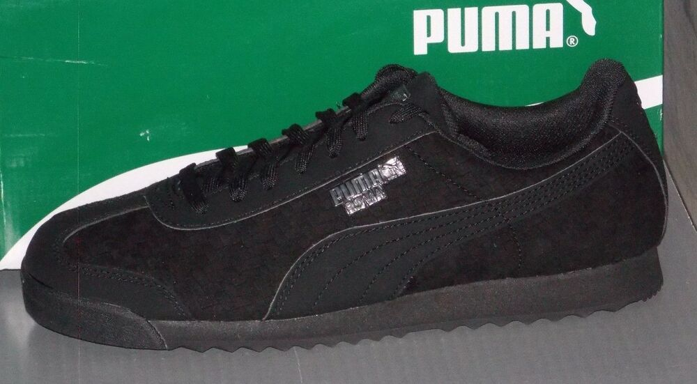 MENS PUMA ROMA WEAVE UPDATE in colors noir / DARK SHADOW Taille 8