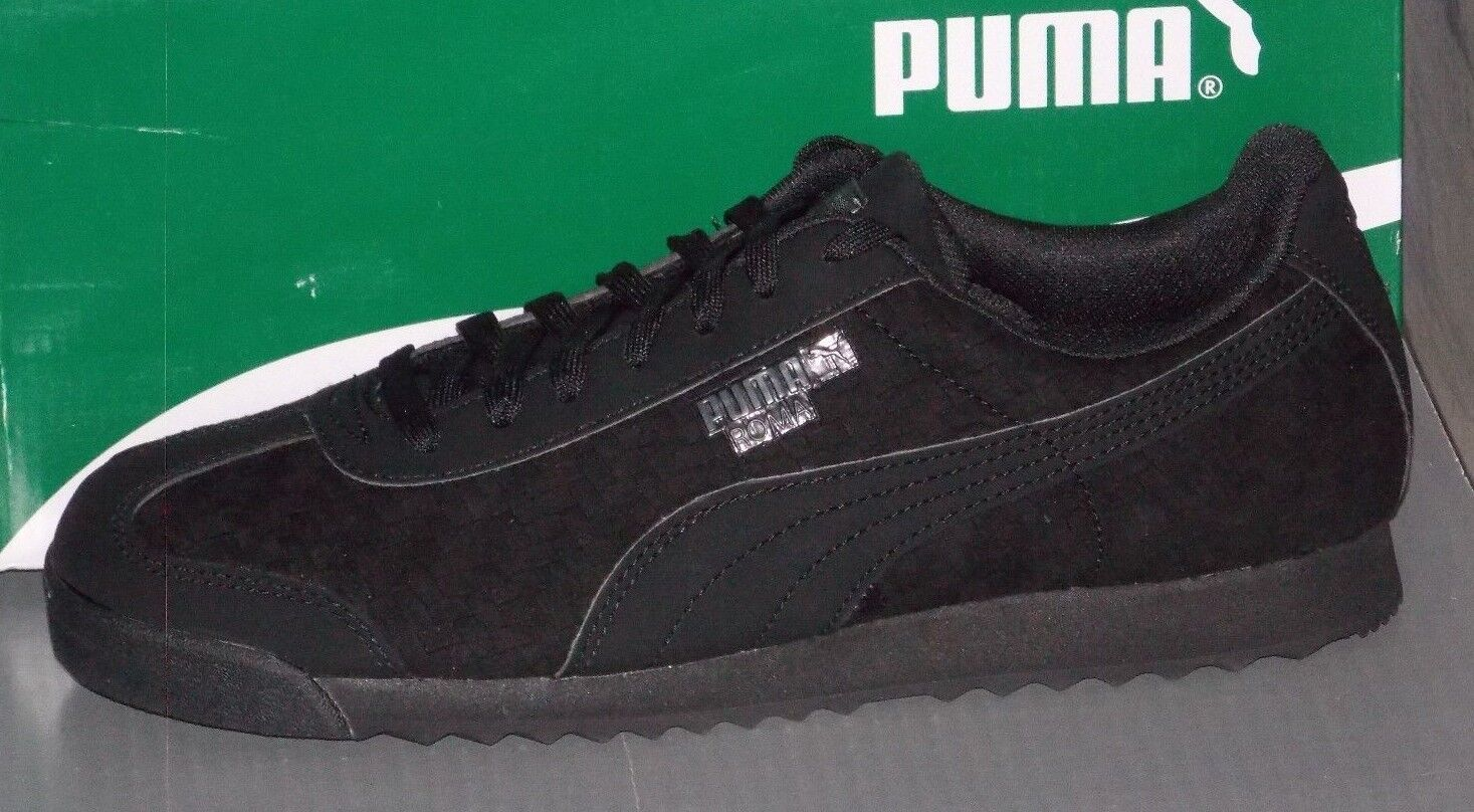 Homme PUMA ROMA WEAVE UPDATE in colors Noir / DARK SHADOW Taille 11