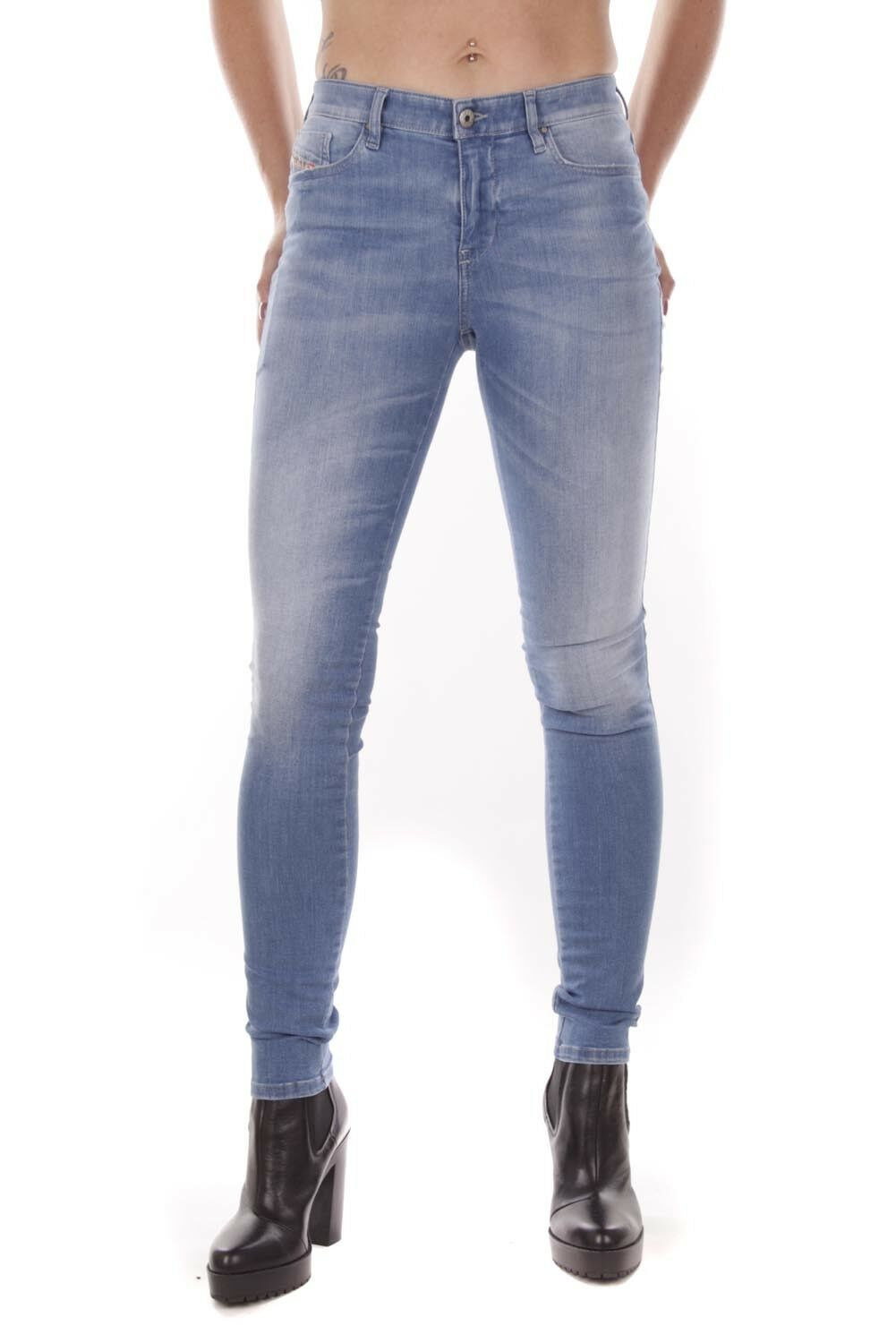 DIESEL SKINZEE 0839p 0839p 0839p JEANS donna pantaloni skinny fbe5bb