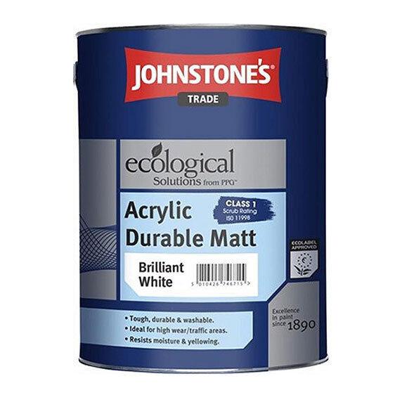 Johnstone's Acrylic Durable Matt Scrubbable Washable Paint, 2.5L, 5L All Colours