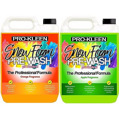 Pro-Kleen Snow Foam Professional Car Candy Cleaning Shampoo Fast Delivery 10L
