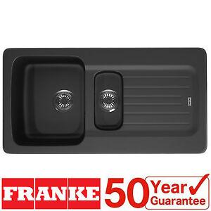 Franke Aveta 1.5 Bowl Black Tectonite Reversible Kitchen Sink & Waste ...