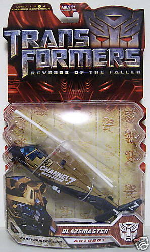 BLAZEMASTER CHANNEL 7 COPTER Transformers ROTF Movie 2 Deluxe Class Figure 2009