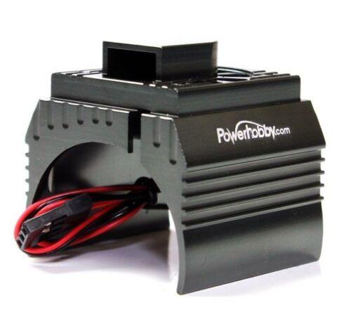 Powerhobby Aluminum Motor Heatsink Cooling Fan 1//10 540 550  Size Motor Gun