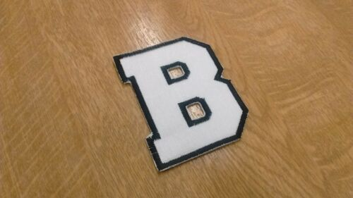 1 x Sew /'n/' Iron On Patch 8cm Tall Letter Varsity Style *Choice 33 Colours*