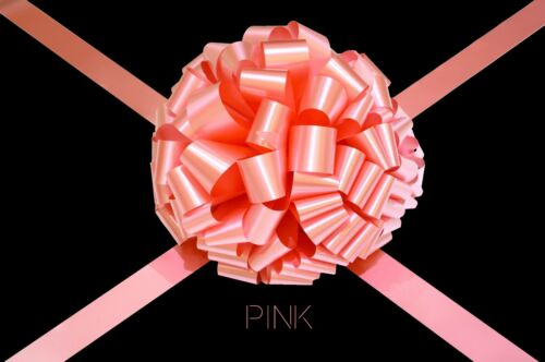 Pink Large Giant Bow Handmade in UK For Gift Present Car Bike Bus Various Sizes