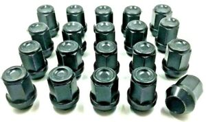 20-X-ALLOY-WHEEL-NUTS-BLACK-FOR-CHRYSLER-300C-M14-X-1-5-19MM-BOLTS-LUG-STUD-34