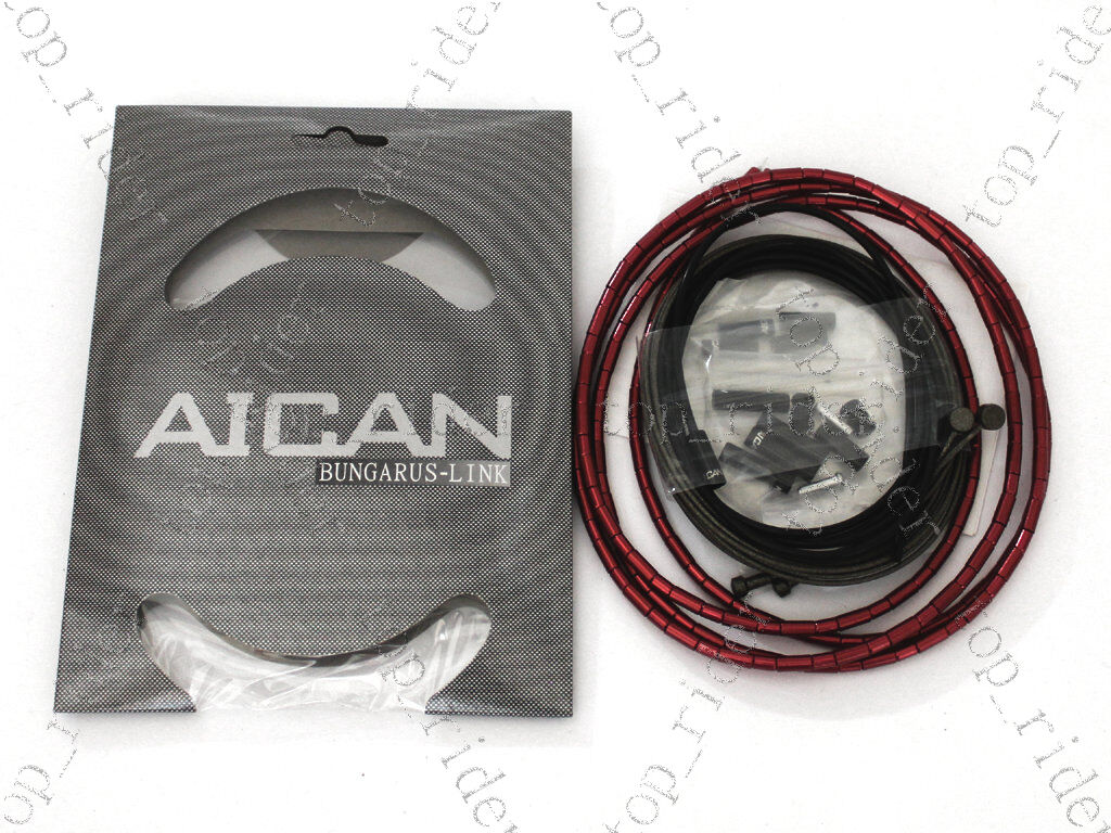 AICAN Superlight Bungarus-Link Brake Cable Housing Kit Red   best sale