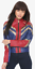 Hot-Topic-CAPTAIN-MARVEL-Faux-Leather-Bomber-Moto-Cosplay-Jacket-Womens-M-L-XL 縮圖 2