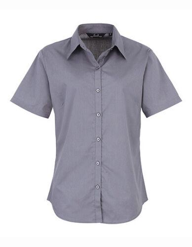 Premier Workwear Ladies Poplin Short Sleeve Blouse Damen 34-54 Teil 2 PW302 S