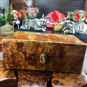 Trinket Thuya wooden box, handmade jewelry holder wooden valentine gift box