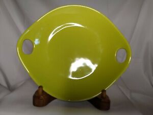 Crate-amp-Barrel-Lime-Green-Ceramic-Appetizer-Dessert-Snack-Plate-with-Handles