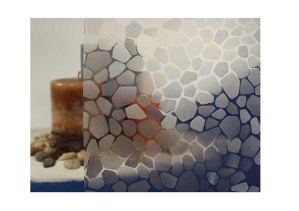 Clara empedradas estática película de la ventana, 36  de ancho x 9 pies