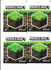 MOJANG JINX MINECRAFT CUBE 4 FOUR DECALS NEW FREE SHIPPING
