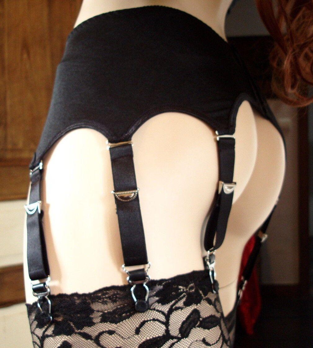 Porte jarretelles black cadeau de noel lingerie éredique  36 38 40 42 44 46 48