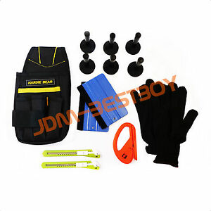 Deluxe Pro Car Wrap Vinyl Tools Kit Scratchfree Squeegee Razor Gloves Magnets 07